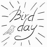 Wektorowa ilustracja z Międzynarodowym Ptasim dniem Fotografia Royalty Free