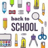 Wektorowa ilustracja z powrotem szkoła temat Zdjęcia Stock