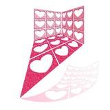 Wektorowa ilustracja z strukturą serce dziury ilustracji