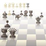 Wektorowa ilustracja z szachowymi kawałkami Obrazy Royalty Free
