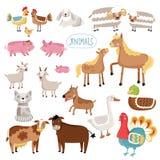 Wektorowa ilustracja zwierzęta gospodarskie Obrazy Royalty Free