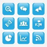 Wektorowa ilustracyjna analityki ikona w mieszkanie stylu i błękitny kolor dla sieci app lub guzików ilustracja wektor