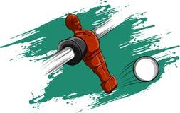 Wektorowa ilustracyjna czerwona gracza stołu futbolu rywalizacja ilustracji