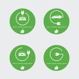 Wektorowa ilustracyjna elektryczna pojazd ładowarki stacja Mądrze punktu miejsce dla ładuje staci dla elektrycznego samochodu Zdjęcie Stock