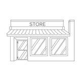 Wektorowa ilustracyjna ikona wyszczególniający sklep, rynek, sklep Zdjęcia Stock