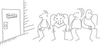 Wektorowa ilustracyjna kolejka dentysta, komiksy Obraz Royalty Free