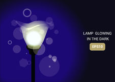Wektorowa ilustracyjna lampa Royalty Ilustracja
