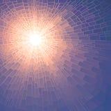 Wektorowa ilustracyjna mozaika słońce z promieniami. Zdjęcia Royalty Free