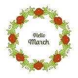 Wektorowa ilustracyjna okwitnięcie kwiatu rama dla zaproszenie marszu cześć ilustracji