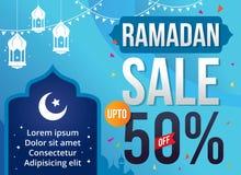 Wektorowa Ilustracyjna Ramadan sprzedaż Fotografia Royalty Free