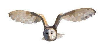 Wektorowa ilustracyjna trójbok sowa Ilustracja Wektor