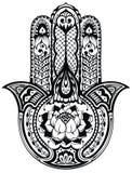 Wektorowa Indiańska ręka rysujący hamsa symbol Obraz Royalty Free