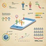 Wektorowa infographics ilustracja royalty ilustracja