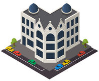 Wektorowa isometric budynek ikona Obrazy Stock