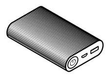 Wektorowa isometric 3d władza bank ikona na biały tło ilustracja wektor