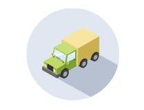 Wektorowa isometric ilustracja ciężarówka Zdjęcia Stock