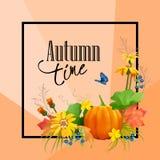 Wektorowa jesieni karta ilustracji
