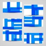 Wektorowa karta ustawiająca dla twój projekta Zdjęcie Royalty Free