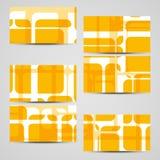 Wektorowa karta ustawiająca dla twój projekta Fotografia Royalty Free
