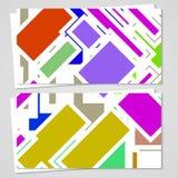 Wektorowa karta ustawiająca dla twój projekta Obraz Stock