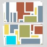 Wektorowa karta ustawiająca dla twój projekta Zdjęcia Stock