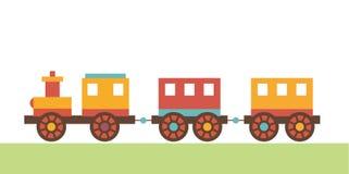 Wektorowa klamerki sztuki lokomotywa children zabawki Zdjęcia Royalty Free