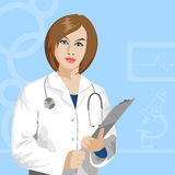Wektorowa kobiety lekarka Zdjęcia Stock