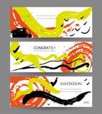 Wektorowa kolekcja abstrakcjonistyczne kreatywnie uderzenie karty Ilustracja Wektor