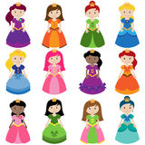 Wektorowa kolekcja Ładni Princesses ilustracja wektor