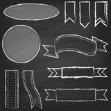 Wektorowa kolekcja Chalkboard stylu sztandary Zdjęcie Royalty Free