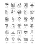 Wektorowa kolekcja dom rośliny, uprawiający ogródek narzędzia i accessori ilustracji