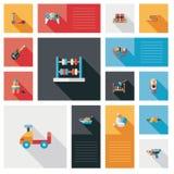 Wektorowa kolekcja dzieciak zabawki mieszkania interfejs użytkownika Obrazy Stock