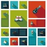 Wektorowa kolekcja dzieciak zabawki mieszkania interfejs użytkownika Obraz Royalty Free