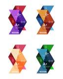 Wektorowa kolekcja kolorowego geometrycznego kształta infographic sztandary ilustracji
