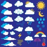 Wektorowa kolekcja Pogodowe ikony royalty ilustracja