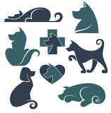 Wektorowa kolekcja psów symbole Zdjęcia Stock
