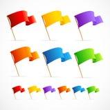 Wektorowa kolekcja różne kolor flaga Obrazy Stock