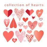 Wektorowa kolekcja serca ilustracja wektor