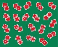 Wektorowa kolekcja wszystkie kombinacje kostka do gry, od one-one s Fotografia Royalty Free