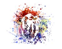Wektorowa kolor ilustraci nosorożec royalty ilustracja