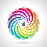Wektorowa kolorowa etap życia ikona Zdjęcia Royalty Free