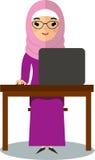 Wektorowa kolorowa ilustracja arabski uczeń w obywatelu odziewa ilustracja wektor