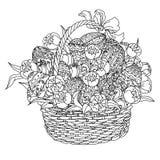 Wektorowa kolorystyki książka dla dorosłego easter jajka wizerunek robić Zdjęcie Stock