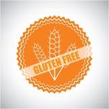 Wektorowa kontur ikona dla gluten bezpłatnych odznak emblematów w linii s i Fotografia Royalty Free
