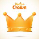 Wektorowa korona odizolowywająca Zdjęcie Royalty Free