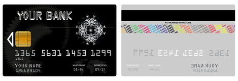 Wektorowa kredytowa karta ilustracja wektor