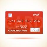 Wektorowa kredytowa karta Odizolowywająca Obrazy Royalty Free