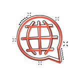 Wektorowa kreskówka wybiera językową ikonę w komiczka stylu lub zmienia Gl royalty ilustracja