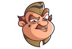 Wektorowa kreskówki ilustracja Śliczny policjant royalty ilustracja