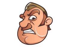 Wektorowa kreskówki ilustracja Śliczny policjant ilustracji